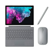 "Microsoft Surface Pro 6 2 in 1 PC Tablet 12.3"" (2736 x 1824) Touchscreen - Intel Core i5 (up to 3.40 GHz) - 8GB Memory - 128GB SSD - Fanless -Keyboard, Surface Pen and Mobile Mouse - Platinum"