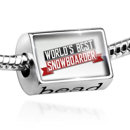 Bead Worlds Best Snowboarder Charm Fits All European (Best Female Snowboarder 2019)