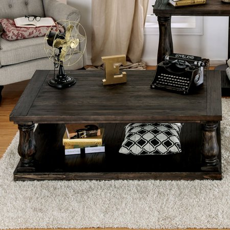 Furniture Of America Pristen Transitional Style Open Shelf Coffee Table