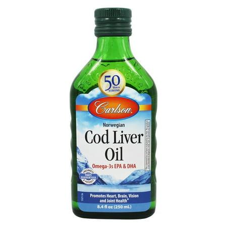 Carlson Labs   Norwegian Cod Liver Oil Regular Flavor   8 4 Oz
