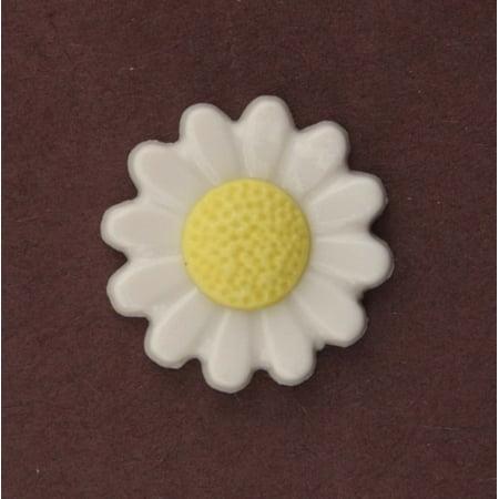 DAISY - 100 BUTTONS (Art Glass Daisy Button)