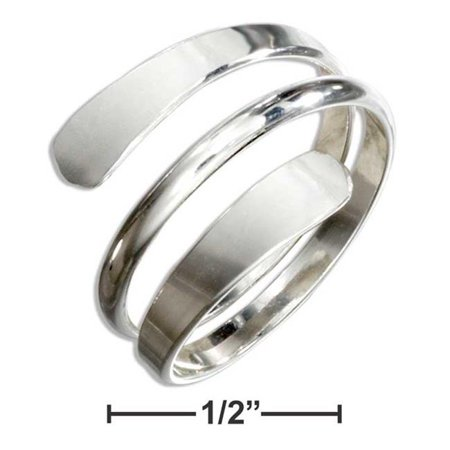P-017523-08 8 in. Sterling Silver High Polish Wrap Around Bypass -