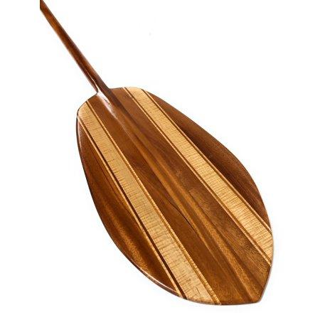 Large Hokulea Steersman Design Maple & Koa Paddle 72
