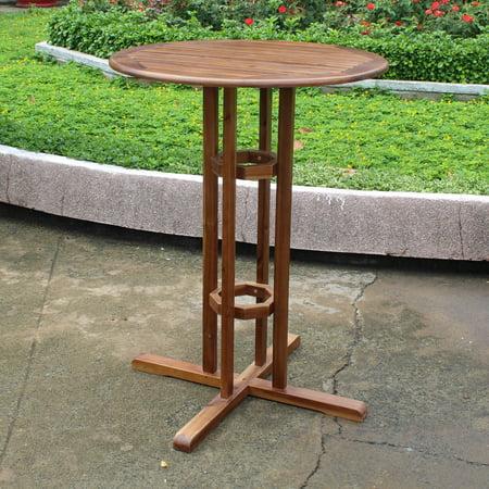 Highland Acacia Wood Bar-height Bistro Table