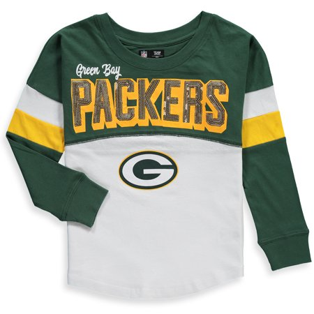 Green Bay Packers New Era Girls Youth Baby Jersey Long Sleeve T