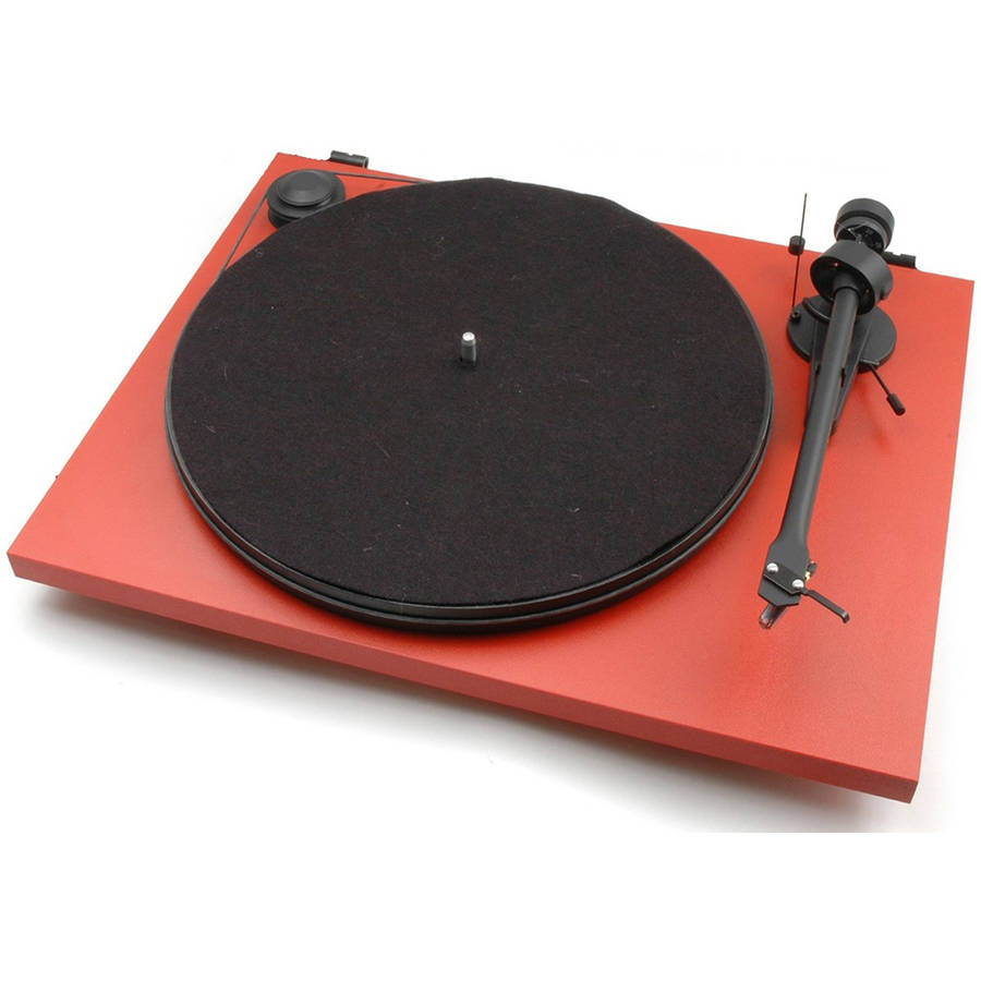 MONOPRICE Pro-Ject Essential II Red USB Turntable with Ortofon OM 5E Cartridge by Generic