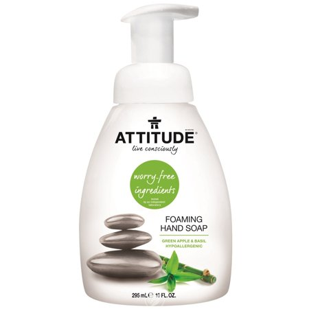Attitude Foaming Hand Soap Green Apple & Basil 10 Ounce, Pack of 2