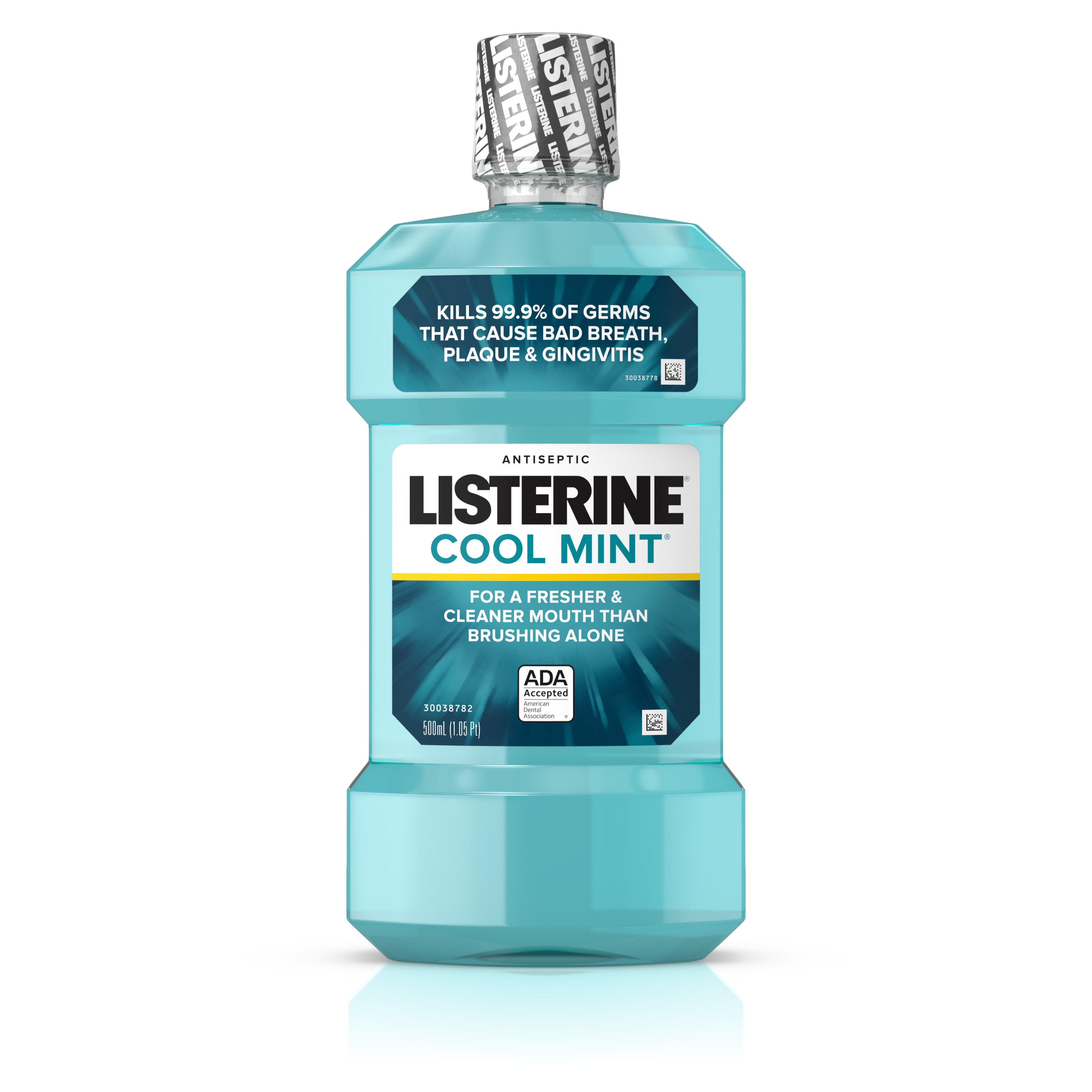 Listerine Cool Mint Antiseptic Mouthwash for Bad Breath, 500 ml