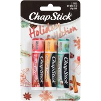 Chapstick Holiday Collection Holiday Cinnamon, Caramel Crme & Holiday Cocoa Flavors) Pack of 3