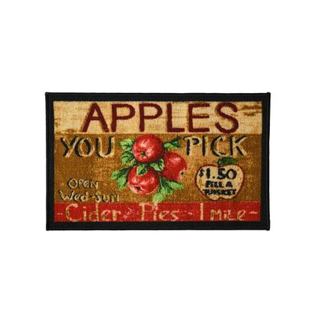 Apple Cider 18x30 Rectangle Kitchen Rug, Area Rug, Mat, Carpet, Non-Skid Latex Back ()