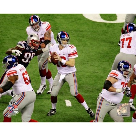 Eli Manning Super Bowl XLVI Action Photo Print
