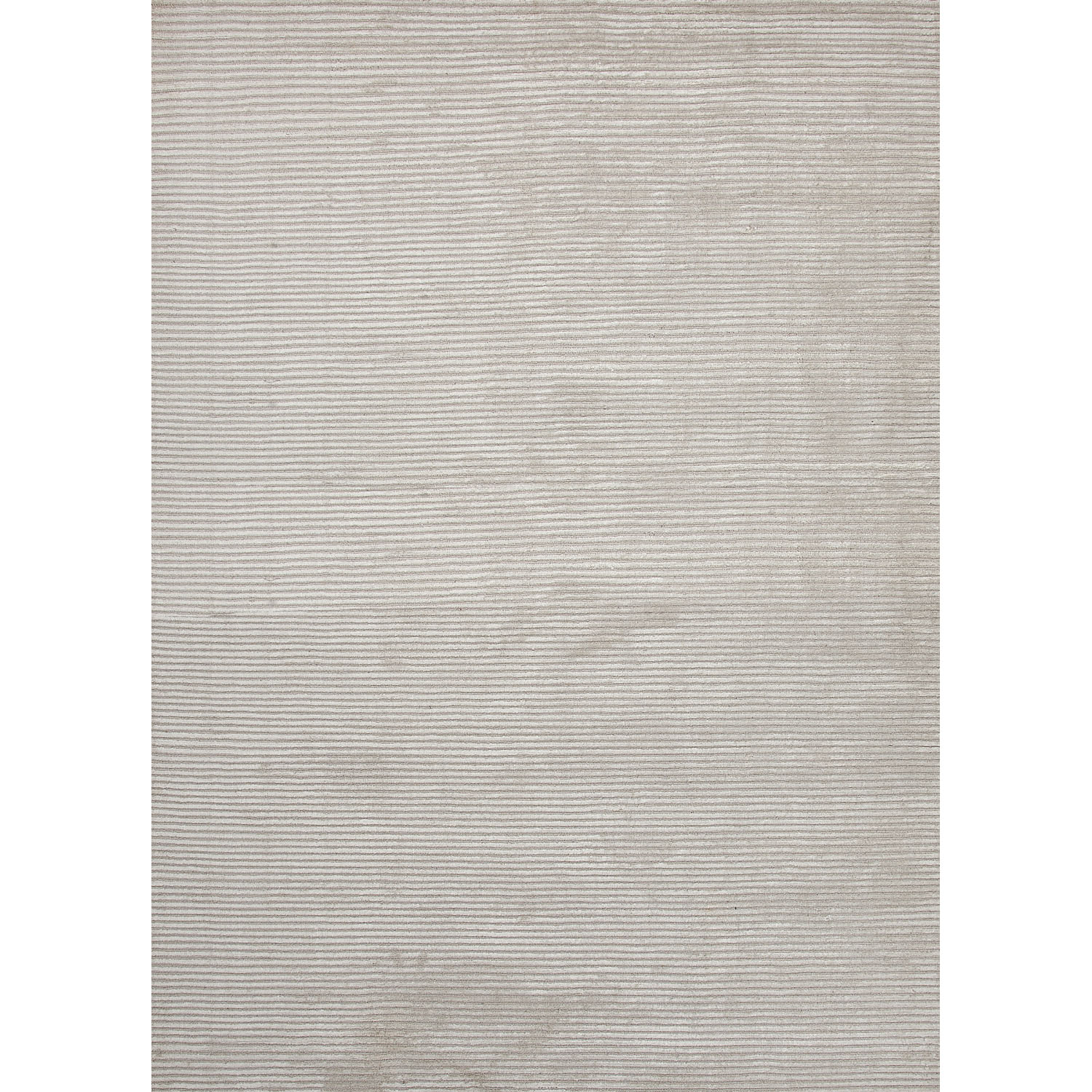 Luxury Stripes Pattern Ivory/White Wool and Art Silk Area Rug (8x10)