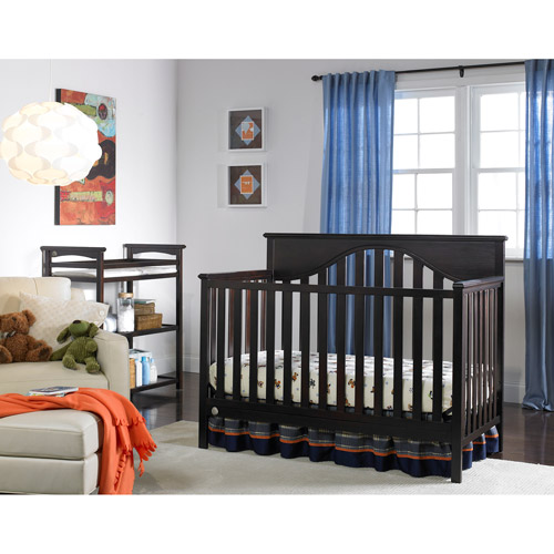 Fisher-Price Lansdale 4-in-1 Convertible Crib, Espresso