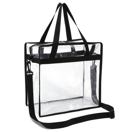 Gonex NFL & PGA Stadium Approved 12''X 12'' X 6'' Clear Bag, Zipper Clear Tote Bag Corssbody Messenger Shoulder Transparent Bag for Men & Women (Knit Messenger Bag)