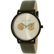 Ted Baker Men's 10009273 Grey Leather Quartz Dress Watch