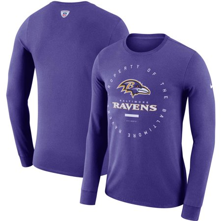 f358f2e8ad0 Baltimore Ravens Nike Sideline Property Of Performance Long Sleeve T-Shirt  - Purple