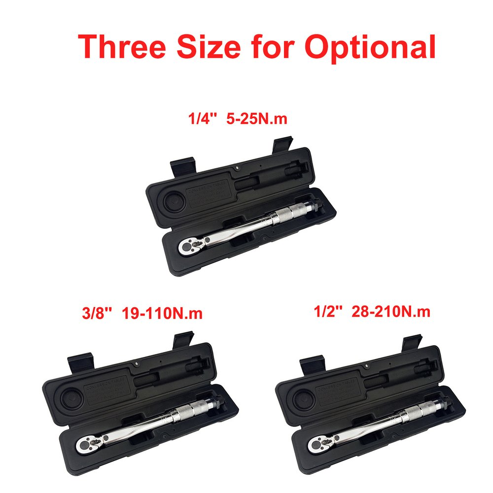Details about  /1//4 3//8 1//2 Torque Wrench Drive Two-Way Accurate Mechanism Hand Spanner Tool