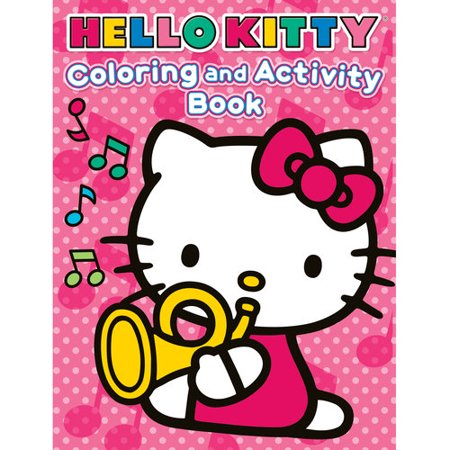 hello kitty jumbo coloring and activity book