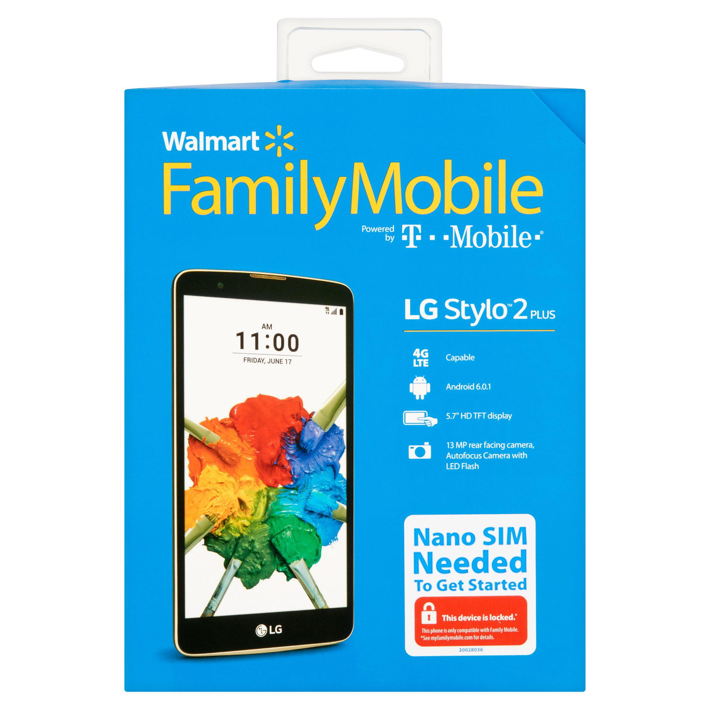Walmart Family Mobile LG Stylo 2 16GB Prepaid Smartphone, Black