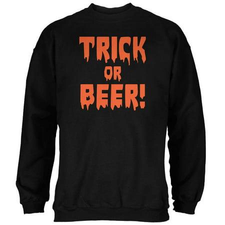 Halloween Trick or Beer Black Adult Sweatshirt](Pet Society Halloween Trick)