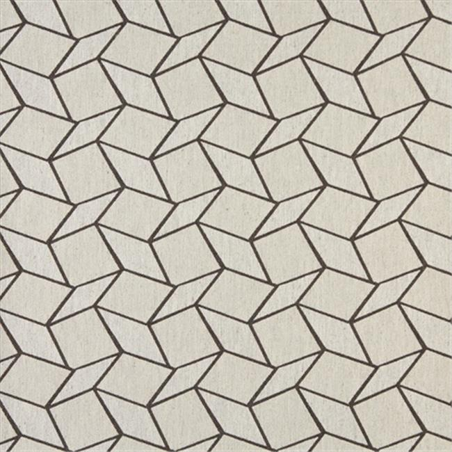 Designer Fabrics K0007D 54 in. Wide Taupe And Off White, Geometric Boxes, Designer Quality Upholstery Fabric