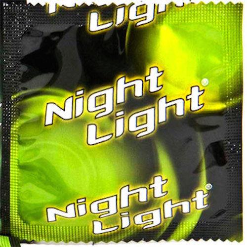 GLOW IN THE DARK CONDOM NIGHT LIGHT 36 CONDOMS BULK PACKAGING