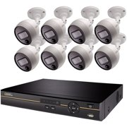Q-SEE 16-Channel 2TB 4K Analog HD DVR with 8 Bullet Cameras QC9916-8FL-2