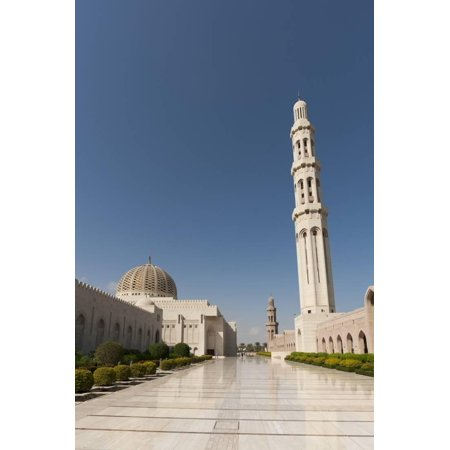 Sultan Qaboos Grand Mosque in Muscat Print Wall Art By Sergio Pitamitz