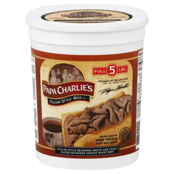 Papa Charlies Italian Beef Family Tub
