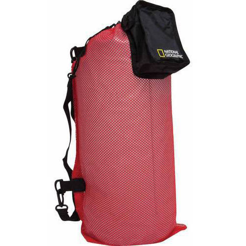 National Geographic Clamshell Mesh Drawstring 2-Pocket Duffle by National Geographic Snorkeler