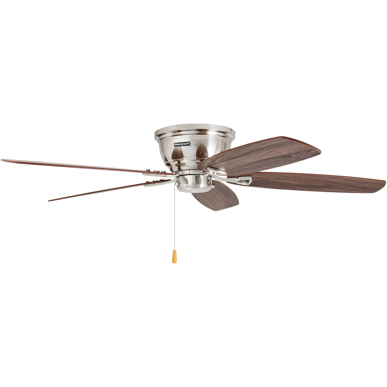 "52"" Honeywell Eastover Ceiling Fan Brushed Nickel Walmart"