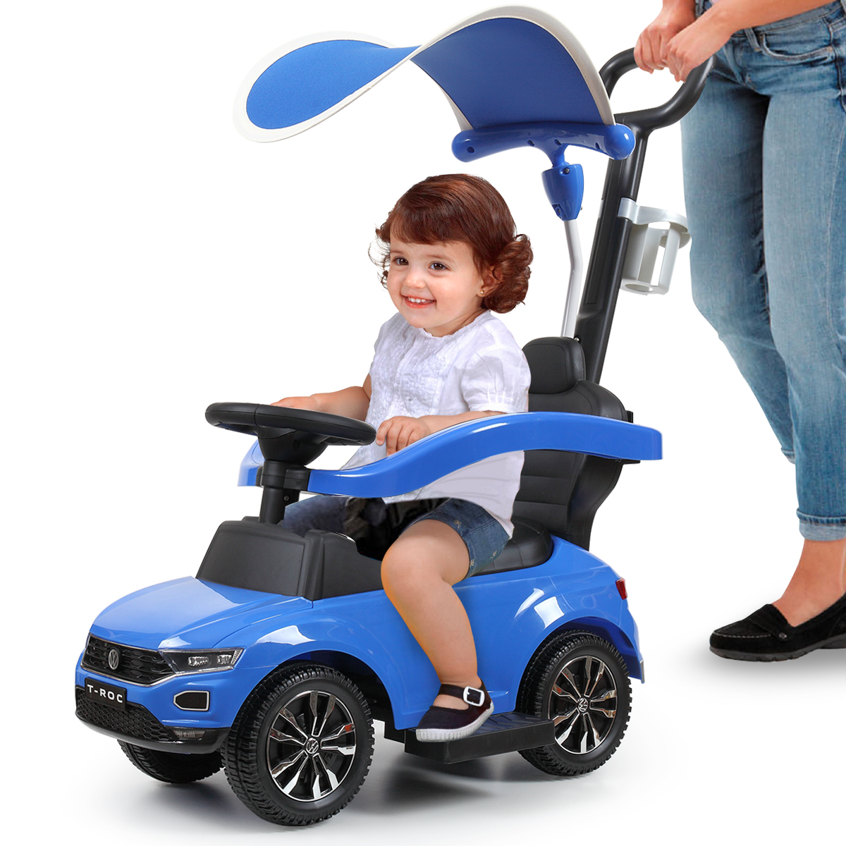 Jaxpety Kids Ride On Push Car Portable 3 in 1 Riding Push ...