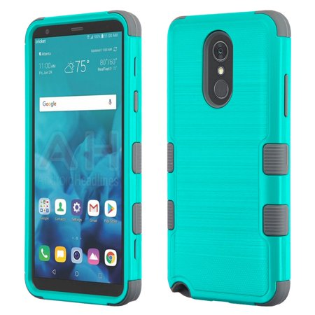 Kaleidio Case For LG Stylo 4 / Stylo 4 Plus [Metallic TUFF] Rugged Armor  3-Piece [Shockproof] Dual Layer Hybrid Rubber Cover w/ Overbrawn Prying  Tool