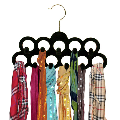 Sweet Home Collection 11 Ring Closet Non-Slip Hanger (Set of 3)