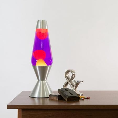 Lava® the Original 16.3-Inch Premier Lamp, Yellow Wax in Purple Liquid (Cool Touch Lava Lamp)