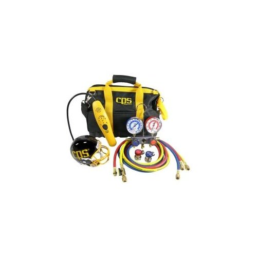 Cps Products KTBLM4 Tool Bag Kit With Leak Detector And Manifold