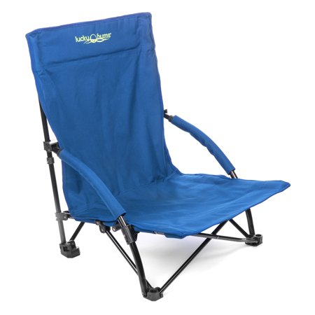 Lucky Bums Low-Profile Folding Sling Beach Chair, Navy, Large