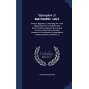 Synopsis of Mercantile Laws