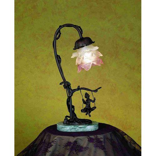 Meyda Tiffany 17855 Single Light Down Lighting Table Lamp from the Cherub Collection by Meyda Tiffany