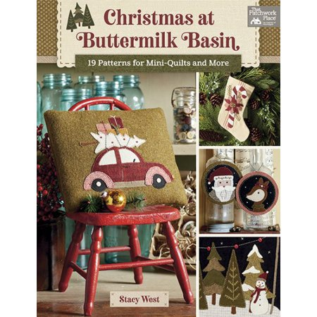 Christmas Pattern Book - Christmas at Buttermilk Basin: 19 Patterns for Mini-Quilts and More (Paperback)