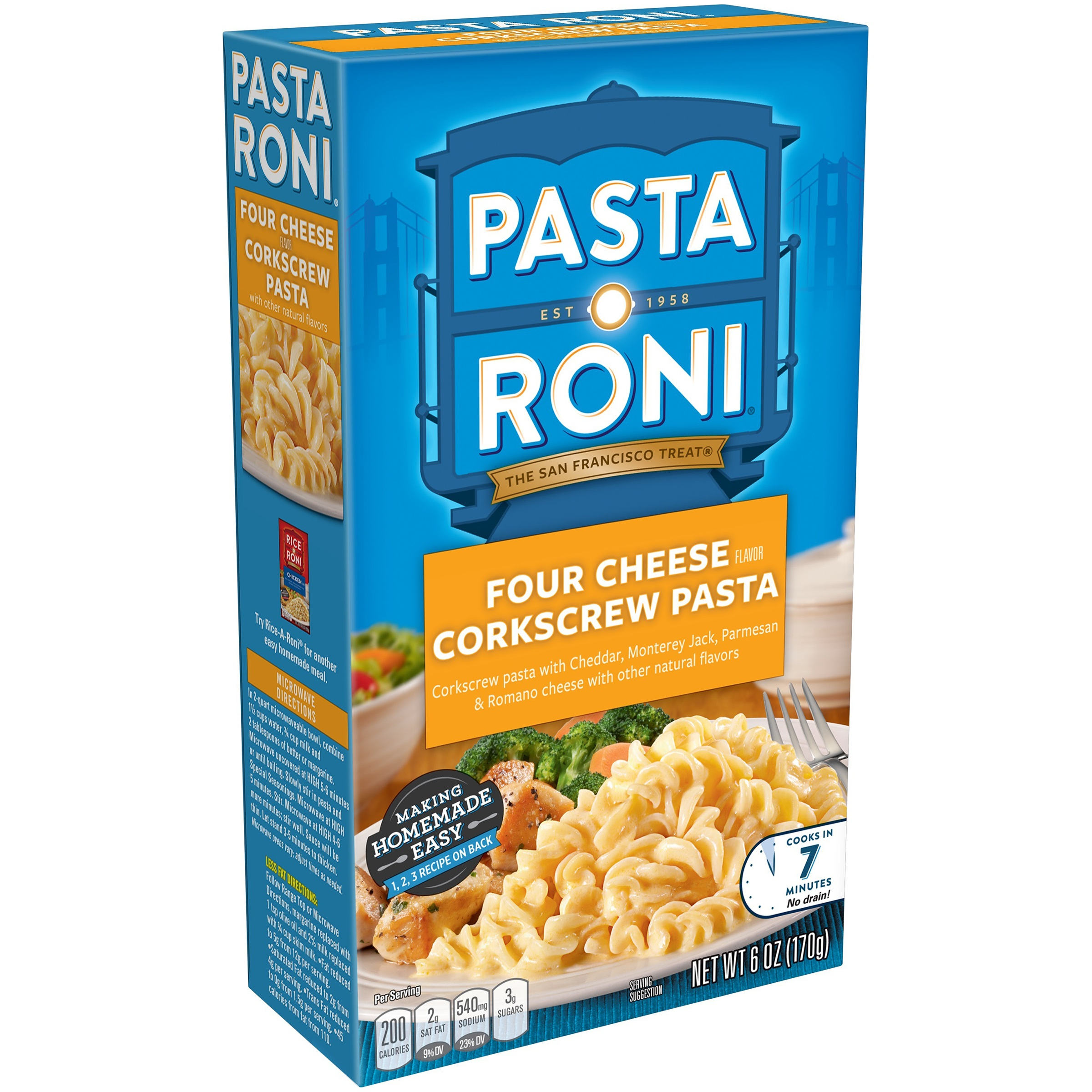 (12 Packs) Pasta Roni Four Cheese Corkscrew Pasta 6 oz - $0.17/oz