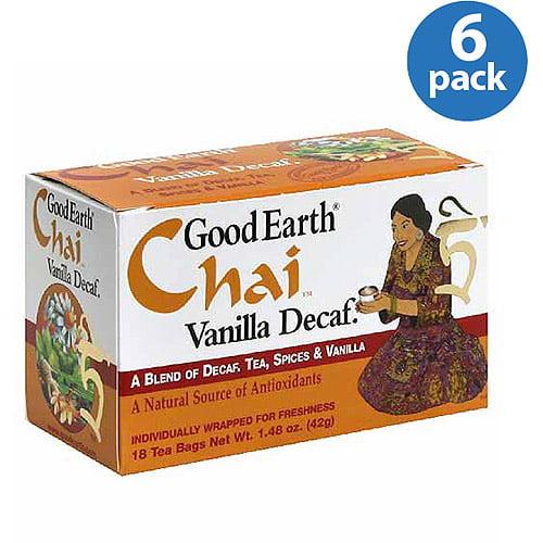 Good Earth Chai Vanilla Decaf Tea, 18 Co