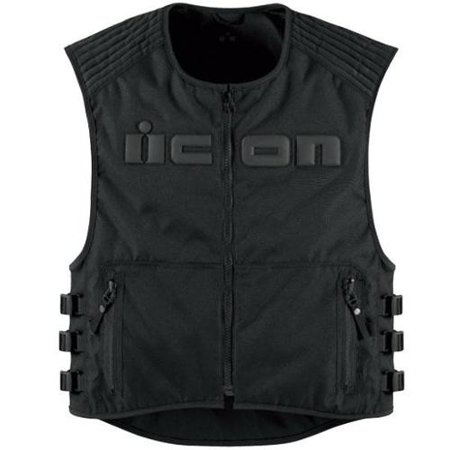 Icon Street Gear - Icon Brigand Textile Street Vest Stealth