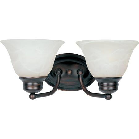 Maxim Lighting 2687MROI Malaga Bathroom Vanity Light, Oil Rubbed (Maxim Lighting Bathroom Vanity)