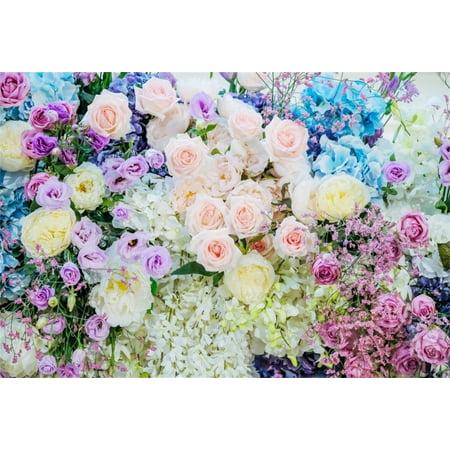 HelloDecor Polyster 7x5ft Valentine Romantic Rose Backdrop Wedding Beautiful Flowers Photography Background Bridal Shower Banner Party Decor Photo Studio Props Girlfriend Lover Portrait - Bridal Shower Backdrop