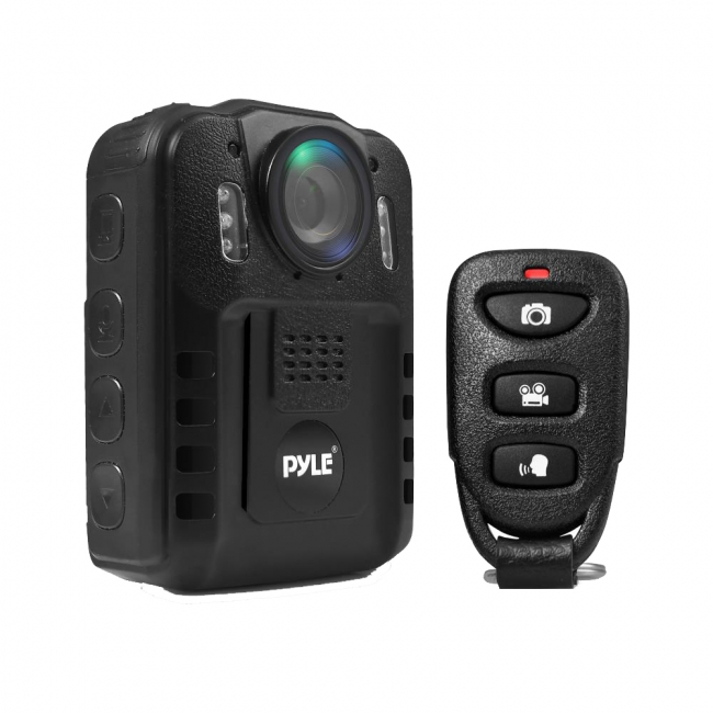 Compact & Portable HD Body Camera, Person Worn Camera (Audio & Video Recording) Night Vis, Built-in Reable Battery, 16GB Memory