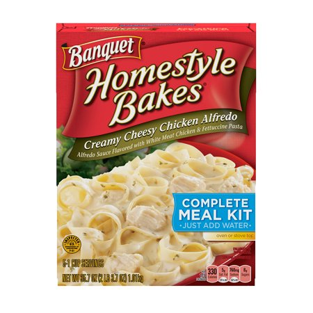 Banquet Homestyle Bakes Creamy Cheesy Chicken Alfredo Meal Kit, 35.7