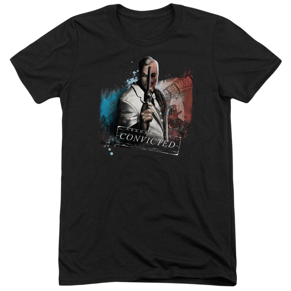 Arkham City Two Face Mens Tri-Blend Short Sleeve Shirt