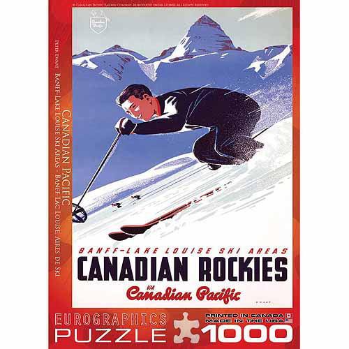 Generic EuroGraphics CP Rail Lake Louise Ski Area 1000 - Piece Puzzle