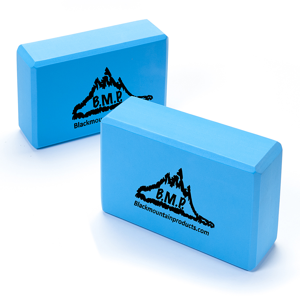 "Black Mountain Products Set of Two Yoga Blocks 3"" x 6""x 9"" Blue"